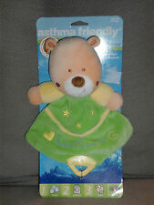 KIDS PREFERRED SWEET DREAMS TEDDY BEAR SECURITY BLANKET LOVEY YELLOW GREEN NEW