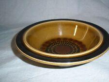"""2 Arabia Finland Kosmos Cereal Bowl Soup Bowls 7"""" Brown Black Mid Century"""