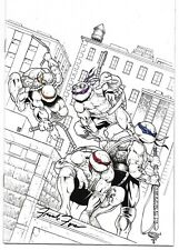 Teenage Mutant Ninja Turtles Urban Legends 1 B&W Planet Awesome Variant Signed