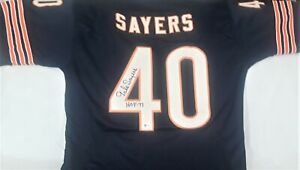 GALE SAYERS,#40-SIGNED JERSEY- HALF BACK & RETURN SPECIALIST-CHICAGO BEARS-COA