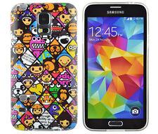 Funda de TPU para Samsung Galaxy s5 Mini Funda protectora de silicona bolsa iconos gestuales cómic