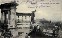 Budapest Ungarn Magyarország 1910 Szent Gellért Szobor Denkmal Standbild Totale
