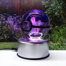 Crystal Ball Poké Ball Pokemon GO Dragonite 3D LED Night Light Desk Table Lamp