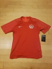 Nike Women's Canada 2019-20 Dri-Fit Home Red Soccer Jersey Size Large