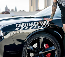 Challenge This Racing Decal Car Sticker, Racing Muscle Car Graphics, Sport, Race