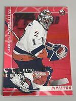 Rick DiPietro 2001 ITG Signature Series 22nd National Cleveland Ruby #01/10-Nice