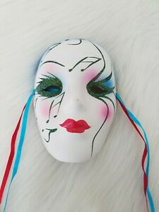 Vintage Ceramic Musical Note Wall Decor Mask