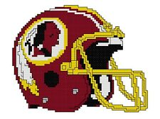 Counted Cross Stitch Pattern, Washington Redskins  Helmet - Free US Shipping