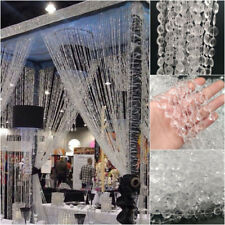 32ft 10m/Roll Rhinestone Crystal Bead String Curtain Bridal Party Decor Jewelry
