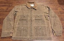FILSON Journeyman Brown Jacket Coat LARGE NWT $295 Seattle Fit