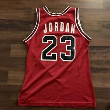 VTG Rare Chicago Bulls Michael Jordan Champion NBA Jersey WHITE LETTERS Sz 44