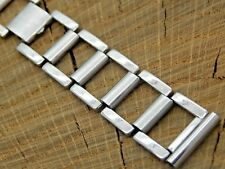 """Vintage Stainless Steel Watch Band Butterfly Clasp 16mm 5/8"""" Pre-Owned Bracelet"""