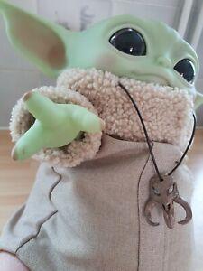 Star wars MANDALORIAN necklace pendant baby yoda  the child grogu 3D printed