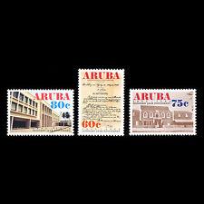 Aruba 1992 - 100th Anniv of the Postal Service Architecture - Sc 78/80 MNH
