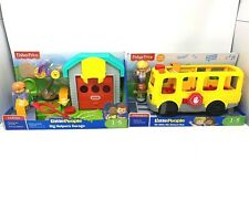 Fisher-Price Little People Sit with Me School Bus Big Helpers Garage Basketball