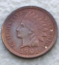 1901 Indian Head Small Cent Choice Unc 4 Diamonds And Liberty
