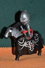 Playmobil, guerrero medieval, caballeria pesada, señor de la guerra.