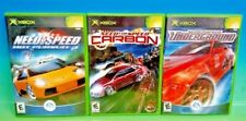 3 Need for Speed Games for Microsoft Xbox OG: Carbon, Hot Pursuit 2, Underground