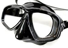 Black Dive Mask - Silicone - Diving Swimming Spearfishing Snorkeling