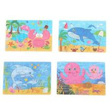 Cartoon Animal Wooden Puzzles Children Toddler Early Educational Learning Toys G