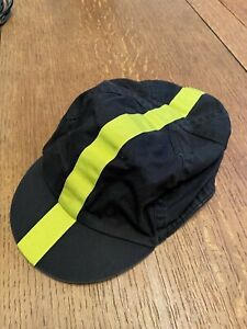 Genuine Rapha Cycling Cap - Black withChartreuse Stripe - USED