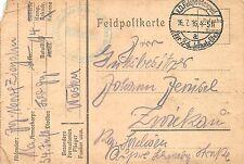 Feldpostkarte 2. Schlesisches Jäger-Bataillon Nr.6. Briefstempel 1916 Frankreich