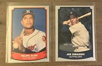 1988 PACIFIC BASEBALL LEGENDS - FELIPE ALOU BRAVES - JOE DIMAGGIO YANKEES -LOT 2