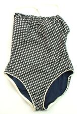 Tory Burch Navy Blue Tie Back Swimming Costume Size Medium (UK 10) RRP £200