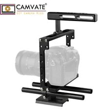CAMVATE Universal Camera Cage Handle Rig DSLR Rod NATO Rail QR Baseplate fr Sony