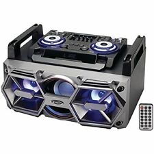 Jensen[r] Smps-750 Portable Bluetooth[r] All-in-one Hi-fi Music System With Pa