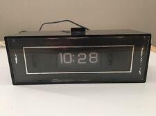 Vintage GE General Electric Flip Roll Alarm Clock Lighted Dial Model 8142-4