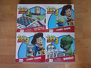 NEW - Toy Story 3  Four Game Pack - Checker & Tic Tac / Rummy/Bingo/ War Game