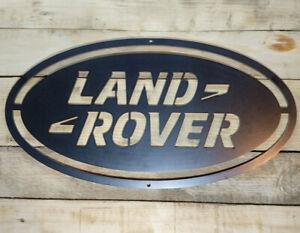 Premium LAND ROVER Logo Metal Sign Hand Finished Wall 4x4 RANGE SPORT GARAGE CAR