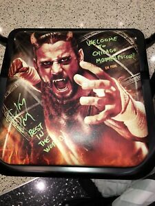 WWF WWE AEW CM PUNK  Autographed Hell In A Cell PPV Event Chair Welcome 2 Chi MF