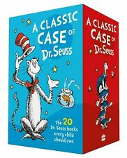 NEW Classic Case of Dr Seuss 20 Book Slipcase Gift Set Kids Library Collection!