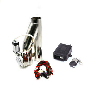 """2"""" 52mm Electric Exhaust Valve Catback Downpipe Cut System Y-Pipe Remote Kit"""