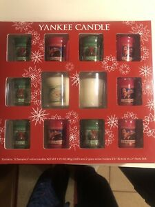 Yankee Candle Christmas Memories Samplers Candle Collection Gift Set 12 Votive
