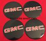 """4 Wheel Center Cap Logo Sticker Decal Emblem Black 3.5"""" 88mm GMC 1500 2500 3500"""