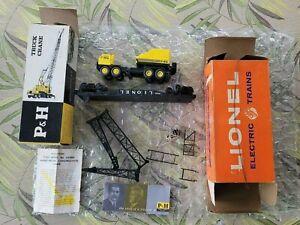 Lionel 6828 Harnischfeger Truck Crane &6828-100 Truck Crane + Instructions +Book