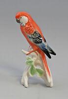 9959531 Porzellan Figur Wellensittich rot Vogel Ens H17cm