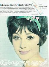 PUBLICITE ADVERTISING 115  1961  Le fond de teint FLUID MAKE-UP de GEMEY