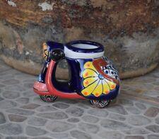 Bike Scooter Plantar Talavera Ceramic Home Kitchen Patio Garden Pottery