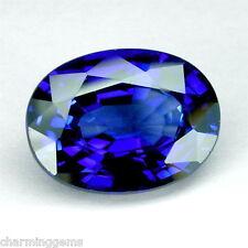 6.83cts. CORNFLOWER BLUE SAPPHIRE OVALLOOSE GEMSTONE JEWELRY ovale saphir bleu