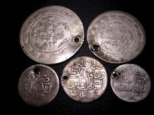 NICE VARIETY ANTIQUE ISLAMIC SILVER COINS, 5 pcs. in LOT!!!