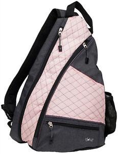 """Ladies Printed Pickleball Sling Bag - """"Rose Gold"""" - Designed For Pickleball"""