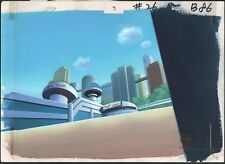 Superman The Animated Series production Background and drawing Warner Brothers
