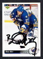 Brad May #74 signed autograph auto 1992-93 Upper Deck Hockey Card