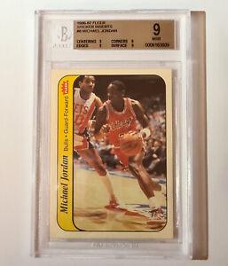 Michael Jordan 1986-87 Fleer BGS 9 Rookie Sticker Card Insert  -  a perfect 9