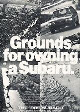 1985 Subaru Station Wagon Original Advertisement Car Print Ad J337