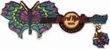Hard Rock Cafe MINNEAPOLIS 2007 BUTTERFLY GUITAR Series PIN w/ Dangle HRC #39250